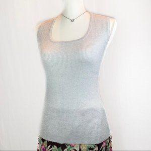 Finite Metallic Sleeveless Knit Top c. Y2k